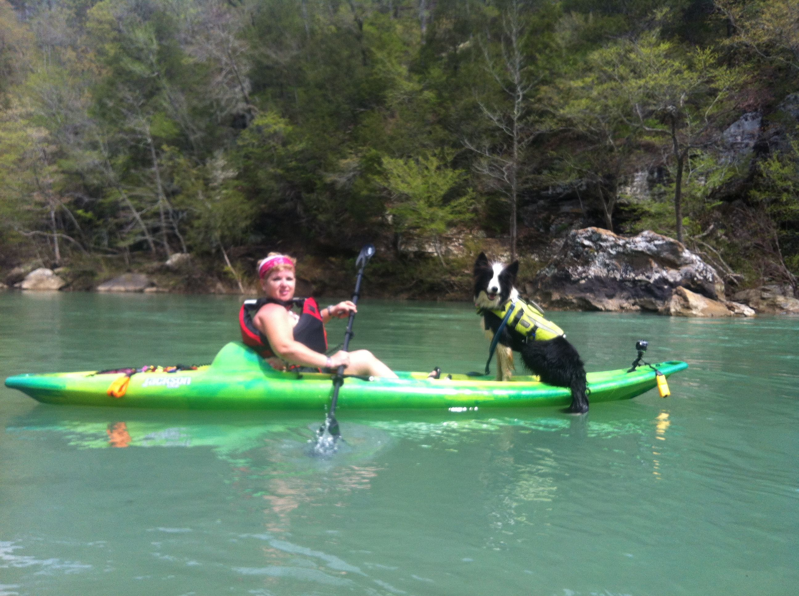 Sisco The Border Collie Loves To Kayak He Fits Perfectly On Our