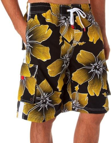 a065ec72cb Mens Floral Influx Print Skate Surf Board Short / Swim Trunks (Various  Colors And Sizes ) by mensclothingi