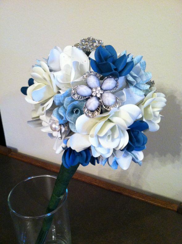 Started my Bridal Bouquet : wedding blue bouquet diy diy bouquet ...