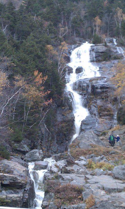 silver cascade falls white mountains NH