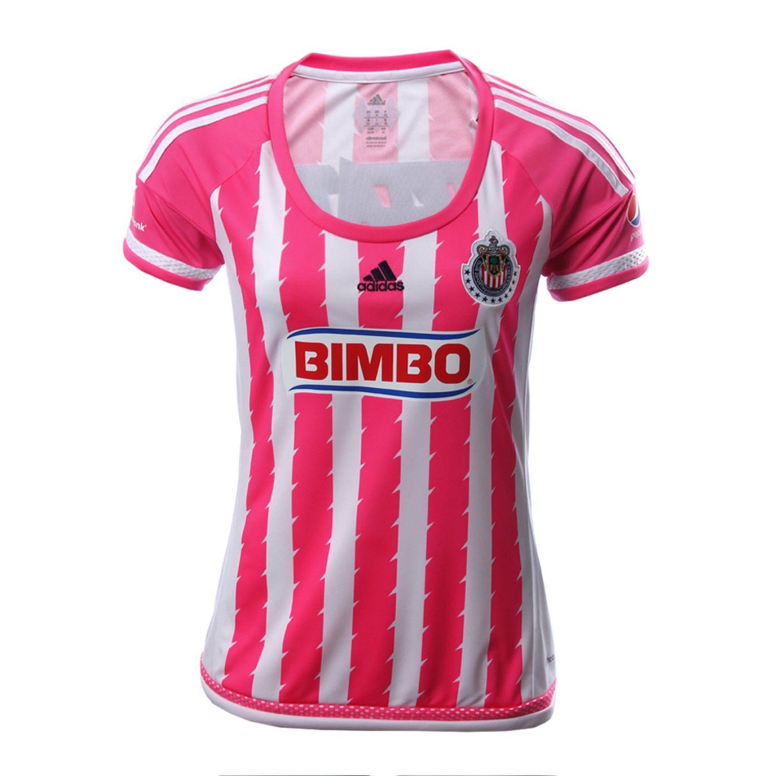 Jersey Chivas Local Rosa 15 16 - Mujer  e94101fe6b186