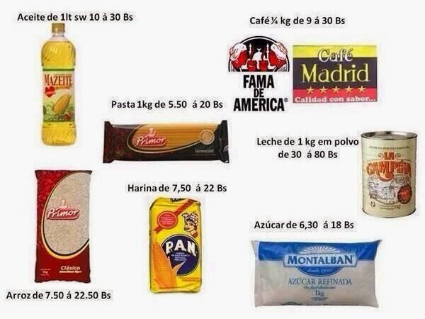 """27 de mar. de 2014 / """"Por si aun no has visto los nuevos precios de los alimentos"""""""