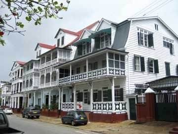 Dutch Colonial Architecture On Paramaribos Historic Waterkant Waterfront