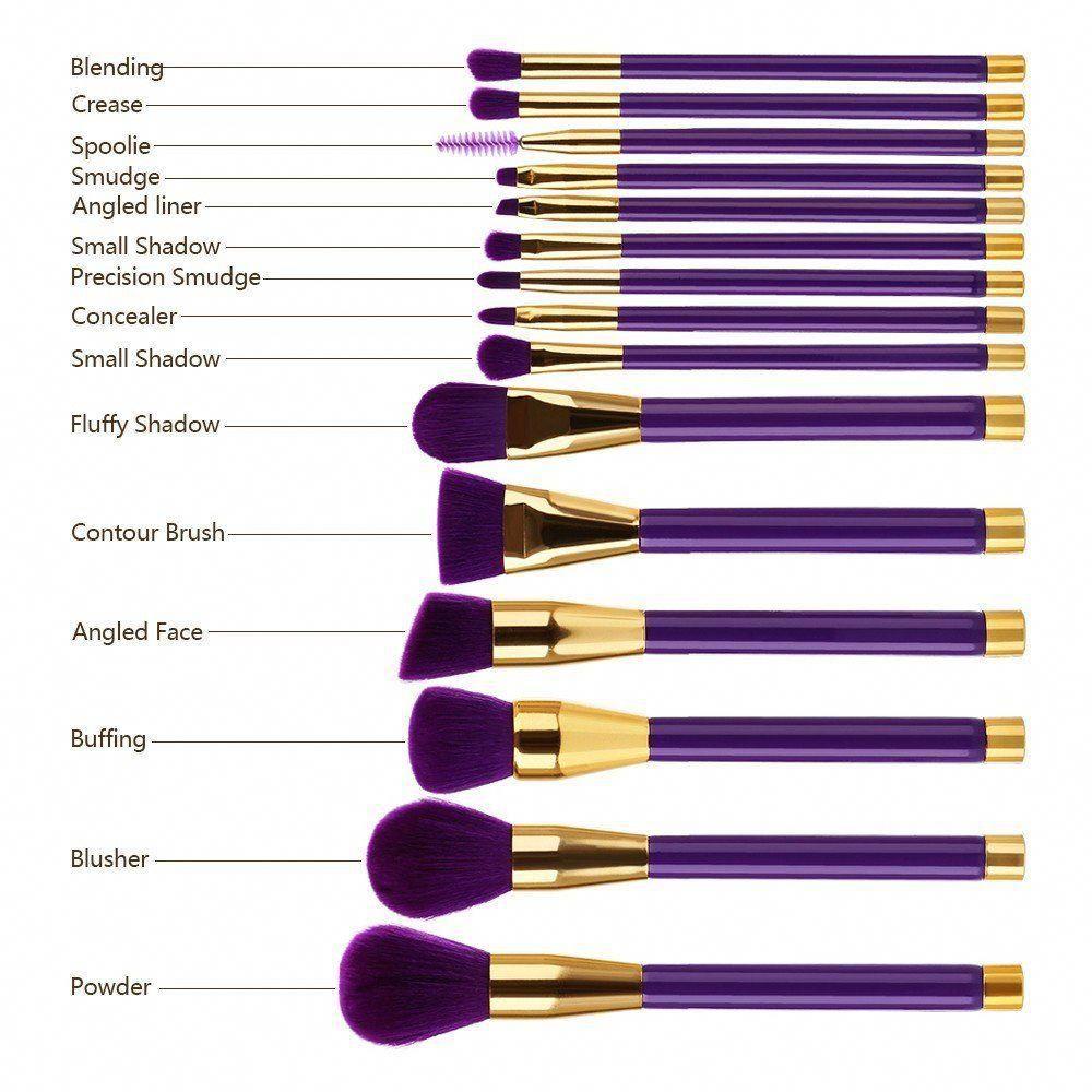 15 Piece Makeup Brush Set 15 Piece makeup brush