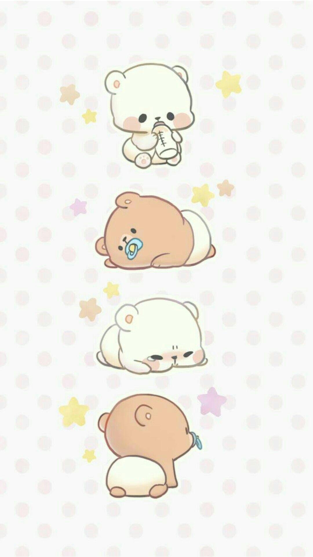 Baby Milk Baby Mocha 3 Cute Bear Drawings Baby Cartoon Drawing Cute Kawaii Animals