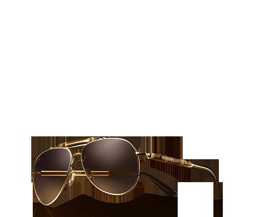 79ba41fe6c8 bamboo aviator sunglasses by  gucci