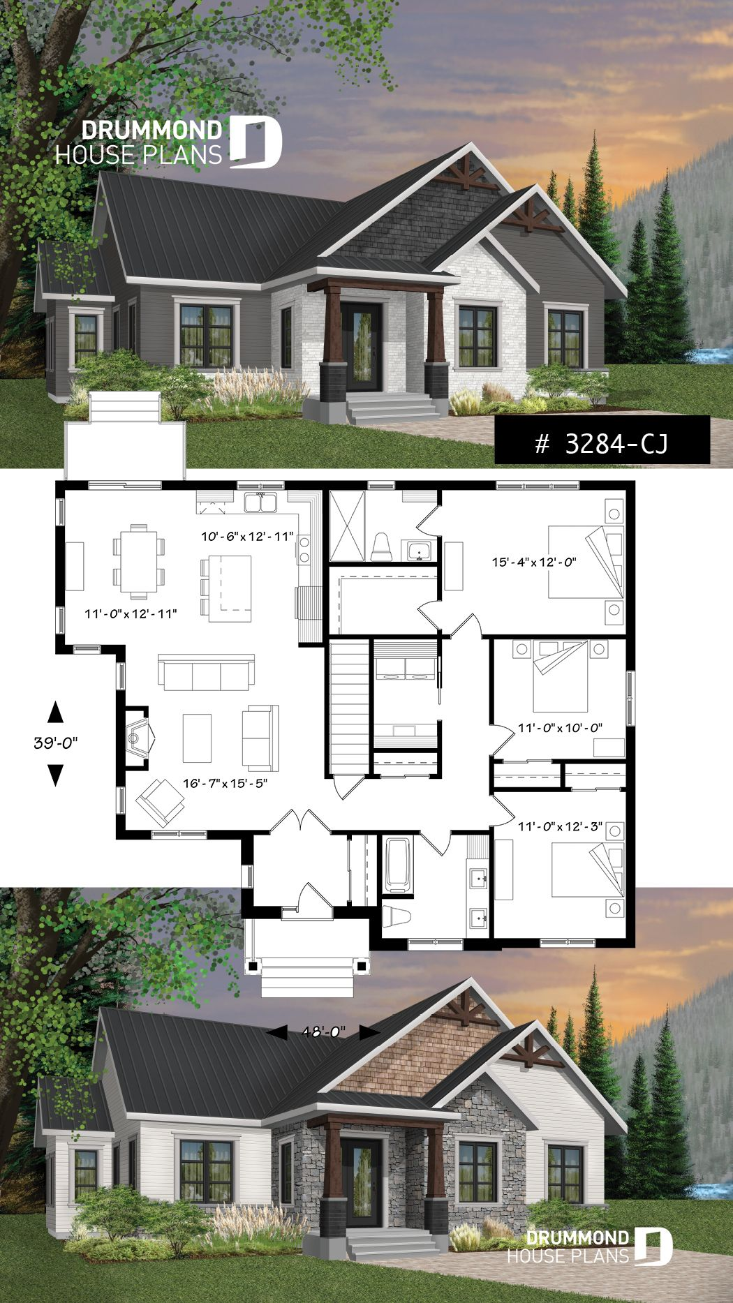 bedroom craftsman inspired home with master suite laundry rooom open kitchen family room concept also country rustic design and fireplace rh pinterest