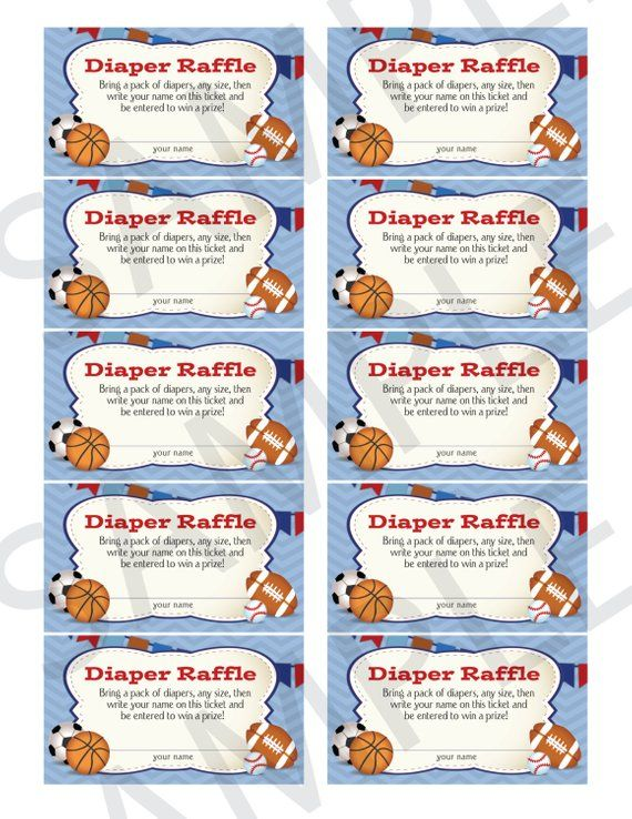 Oh Boy! Little All-Star MVP Sports-Themed Diaper Raffle