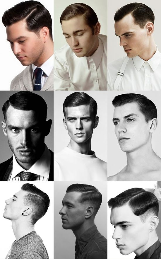 To give this haircut a modern edge, some clients choose to alter the balance of it by having the parting side cut higher. This results in exaggerated length through the front, which in turn gives the appearance of longer hair on top that looks more disconnected from the back/sides.