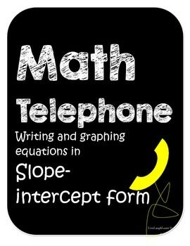 Slope intercept form math telephone math basics pinterest math slope intercept form learn how to write equations word problems and graph in a fun way math ibookread PDF