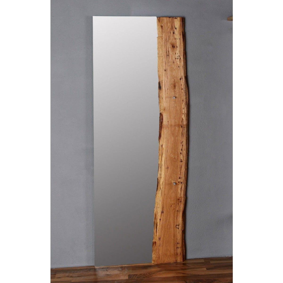 Spiegel eiche woodline massiv 70x190cm f r flur for Spiegel fur flur garderobe