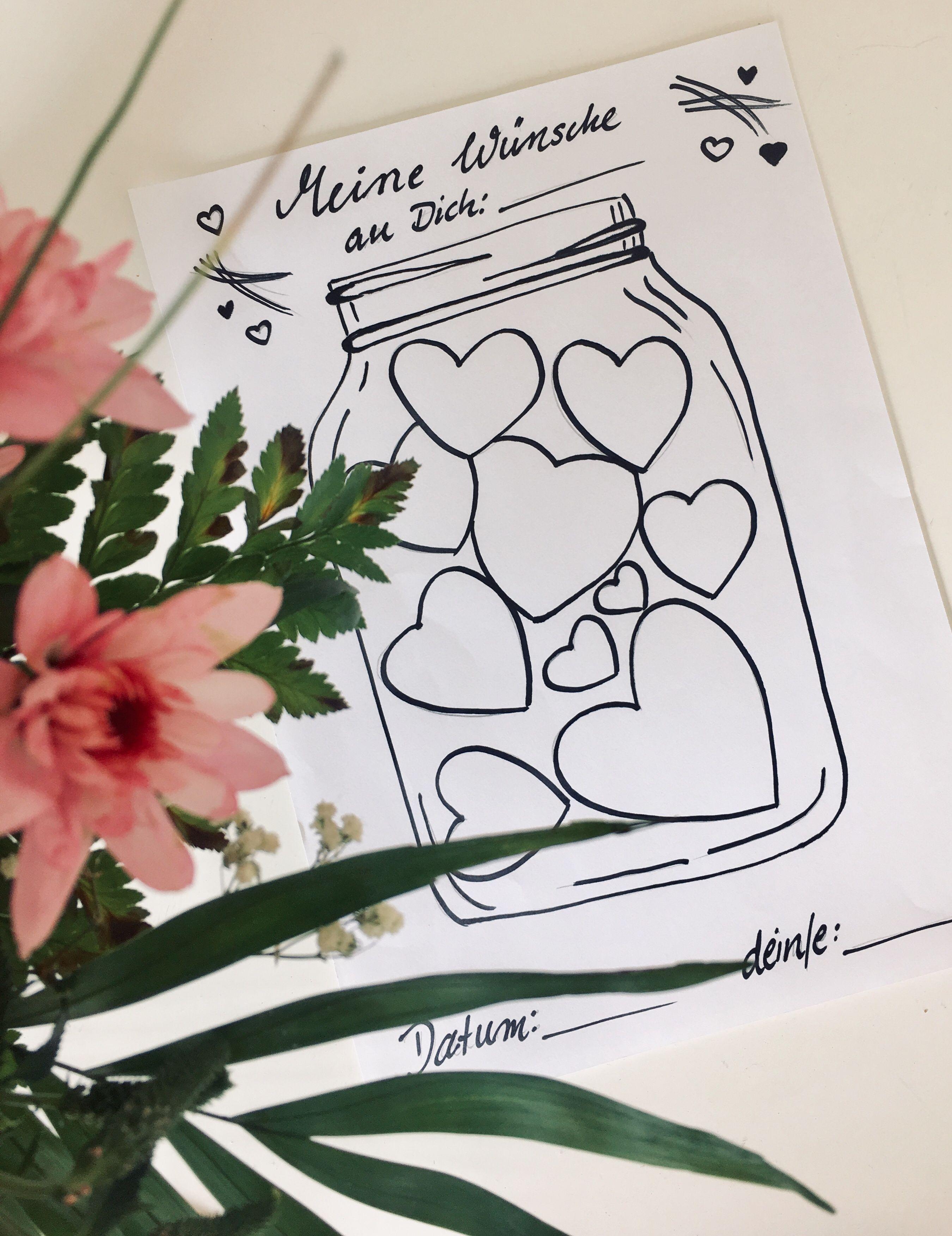 Ein Wunschglas- Ein kostenloses Portfolio für deine Kita #bastelprojektefürdenfrühling