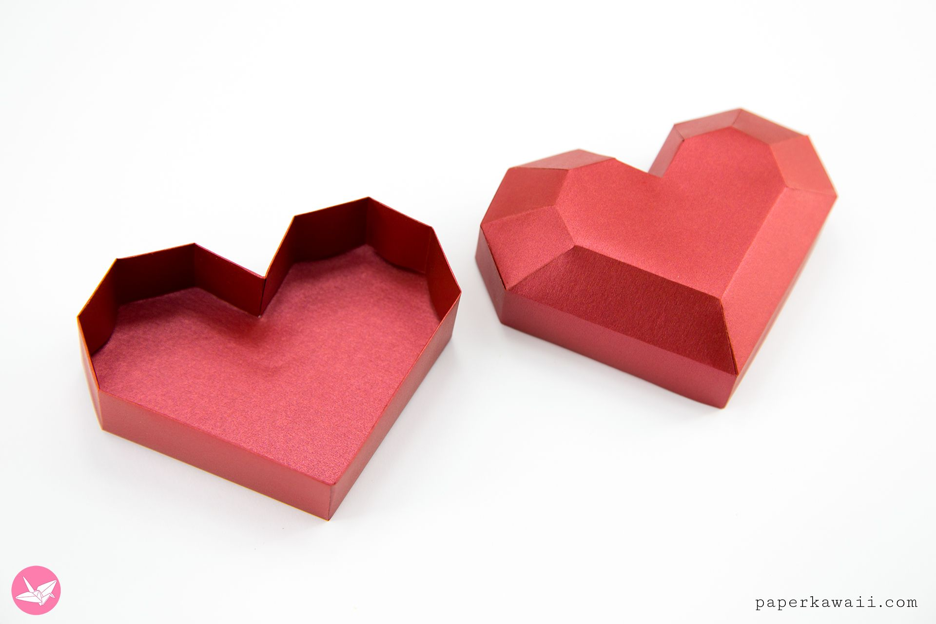 Paper Heart Box Tutorial Paper Kawaii Heart Box Template Heart Gift Box Heart Box