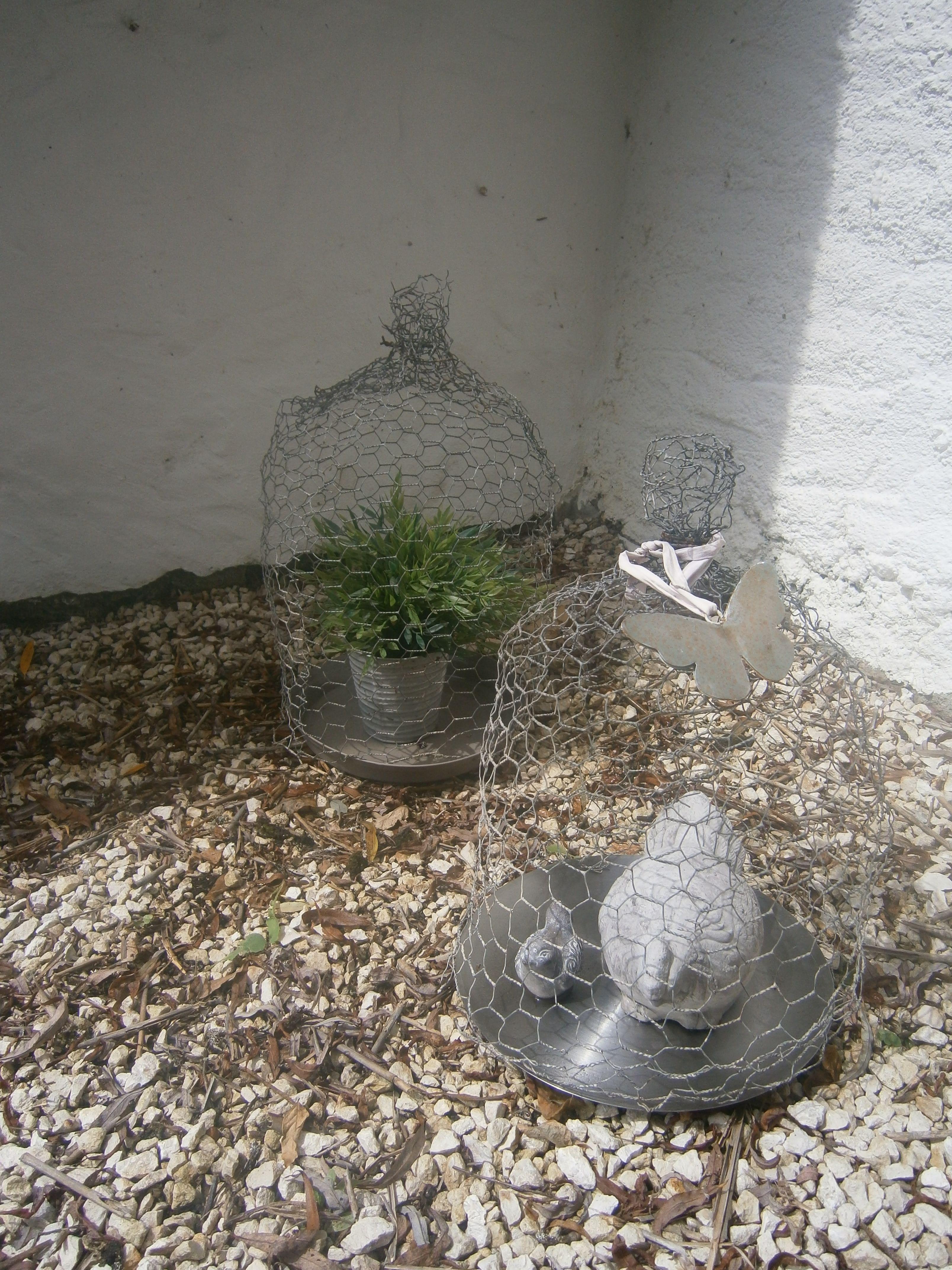 Cloche r alis e avec du grillage poules brocante for Brocante jardin anglais