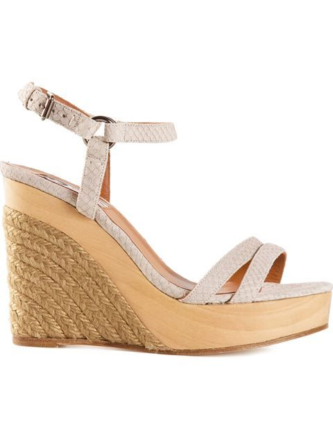 6ed5bdeff0d Shop Lanvin espadrille wedge sandals in Luisa World from the world's ...