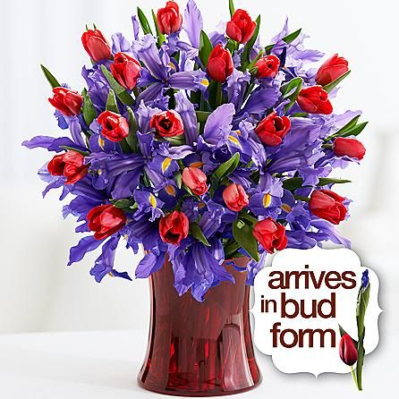 Deluxe Hugs And Kisses Online Flower Delivery Blue Iris Flowers Flower Delivery