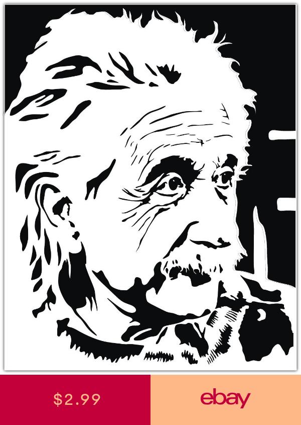 Albert Einstein Car Bumper Window Sticker Decal 4 X5 Albert Einstein Silhouette Art Einstein
