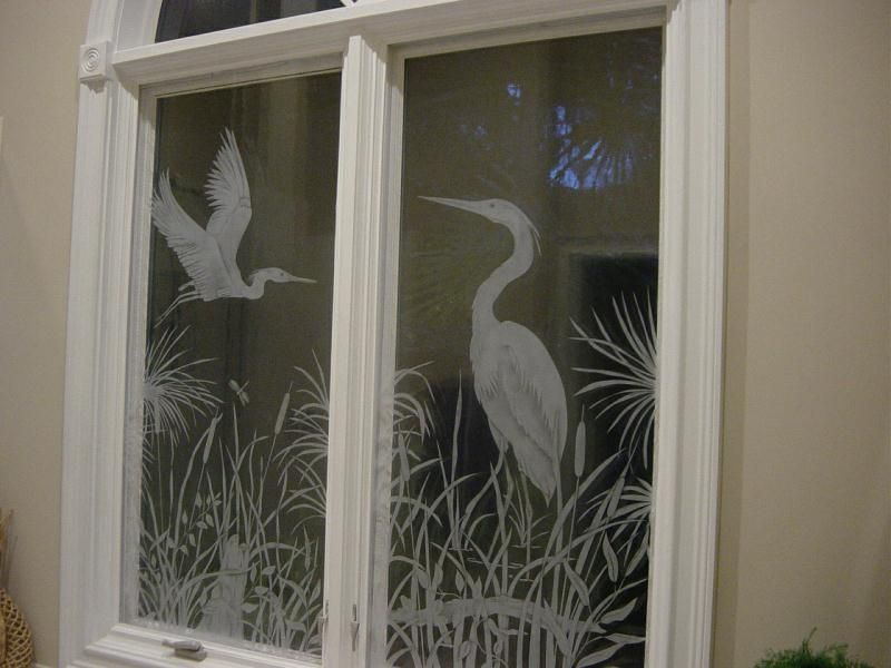 Etched Glass Work By Osprey Originals Charelston Sc Etched Glass Door Glass Design Sandblasted Glass Design