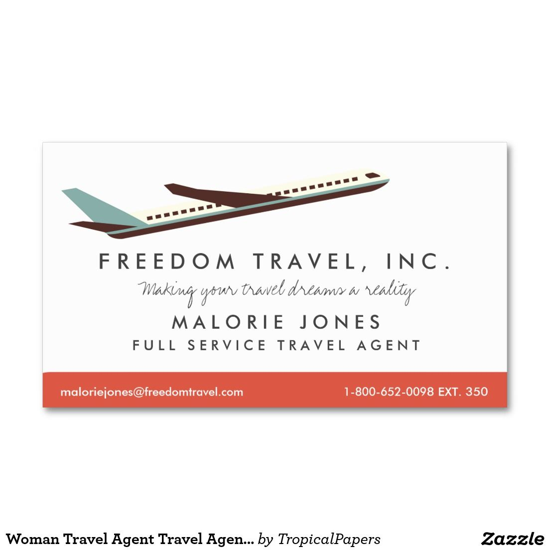 Woman Travel Agent Travel Agency Business Card SOLD, thank you to ...