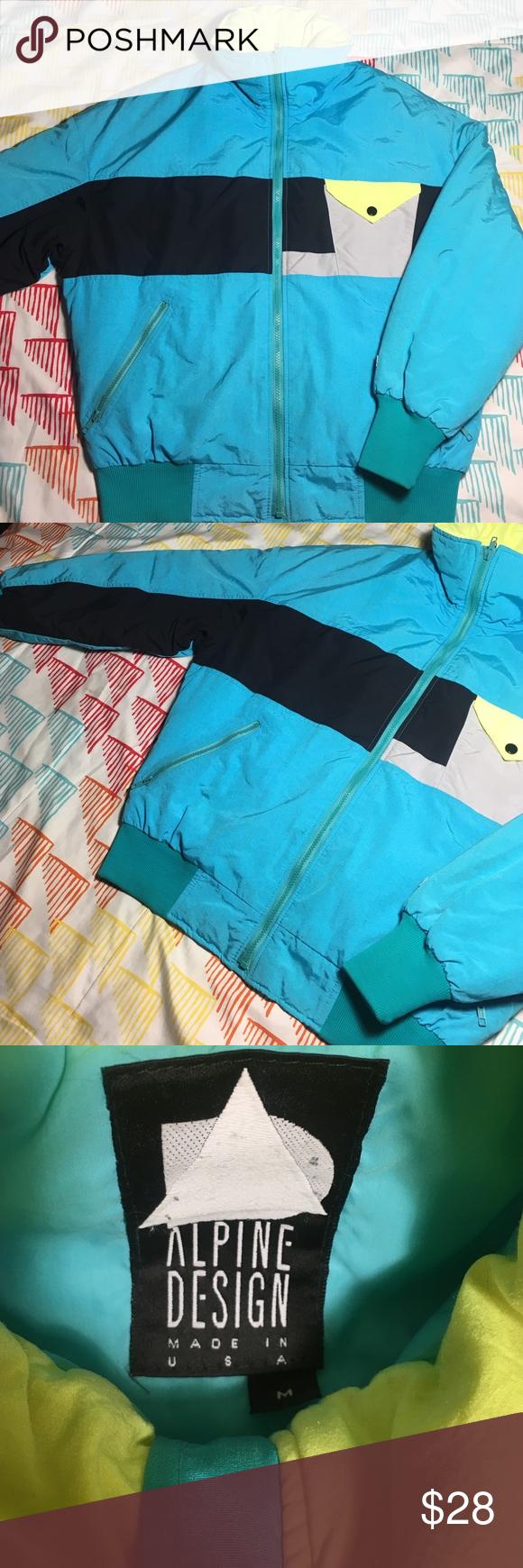 Alpine Design Retro Down Ski Jacket Vintage 90s Size Medium - Condition 9/10 alpine design Jackets & Coats