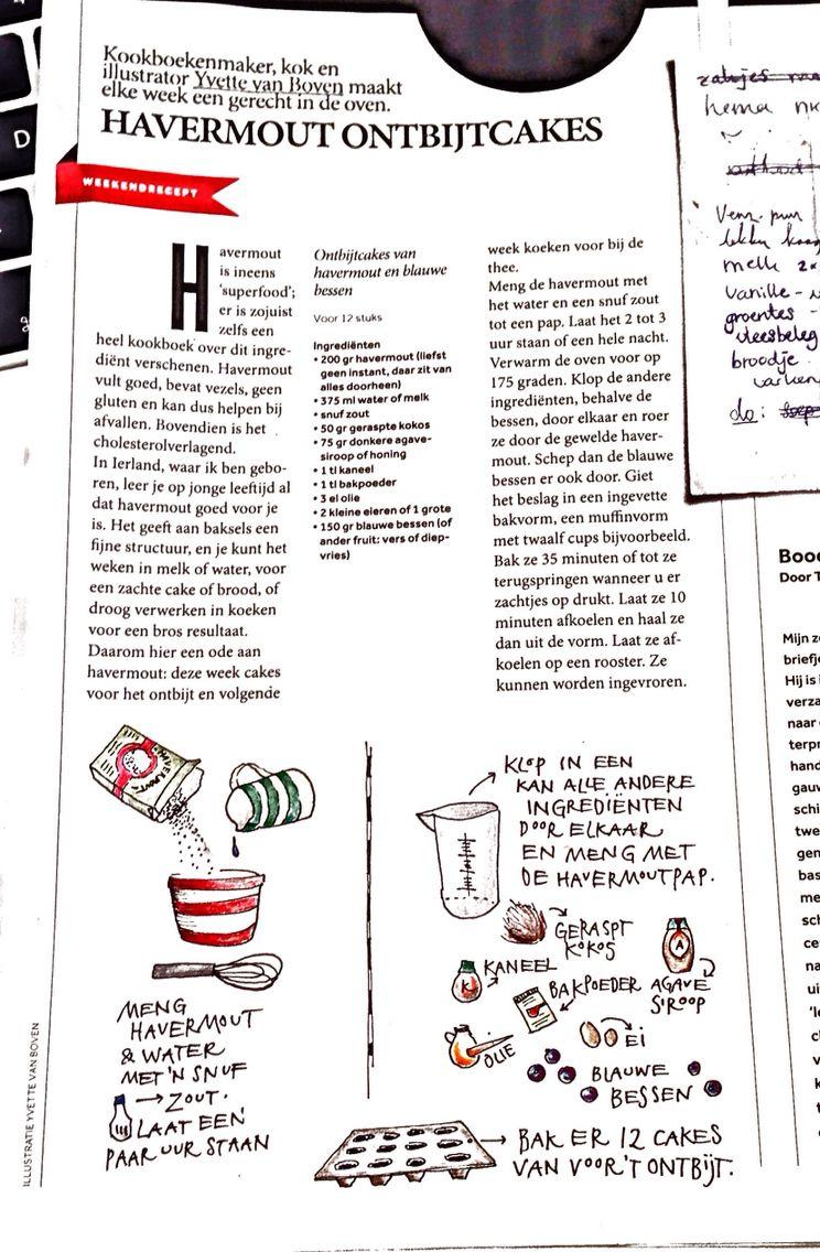 havermout ontbijtcakes by yvette van boven uit vk magazine