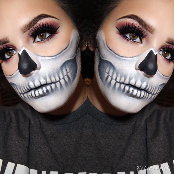 Maquillaje para Halloween - 3 ideas Makeup, Halloween makeup and - face painting halloween makeup ideas
