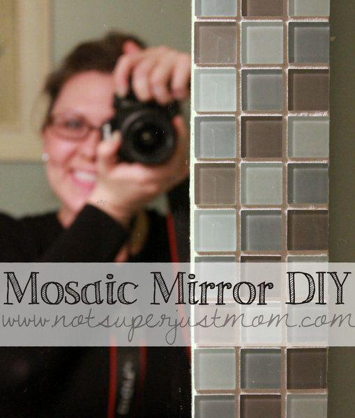 how to put vinyl text around mirror