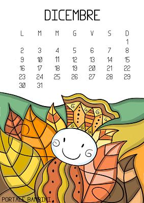 Calendario Illustrato Da Stampare 2019 Portale Bambini Calendario