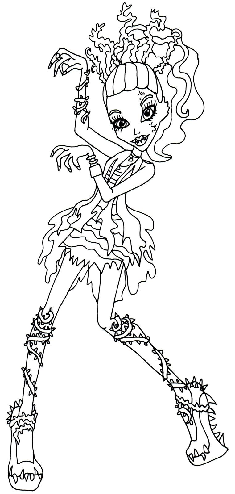 Monster High Ausmalbilder Cleo De Nile : Fantastisch Monster Hoch Malvorlagen Venus Mcflytrap Galerie