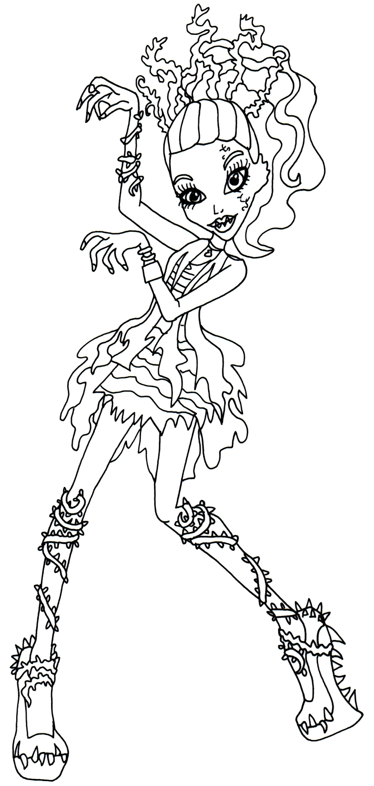 Monster High Venus Mcflytrap Coloring Pages Pinterest