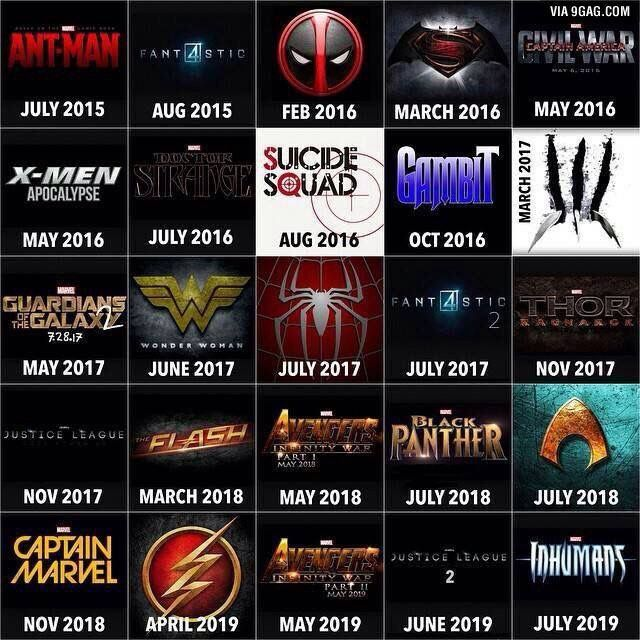 Timeline Of Superhero Movies For The Next 5 Years Superhero Movies Upcoming Superhero Movies Superhero