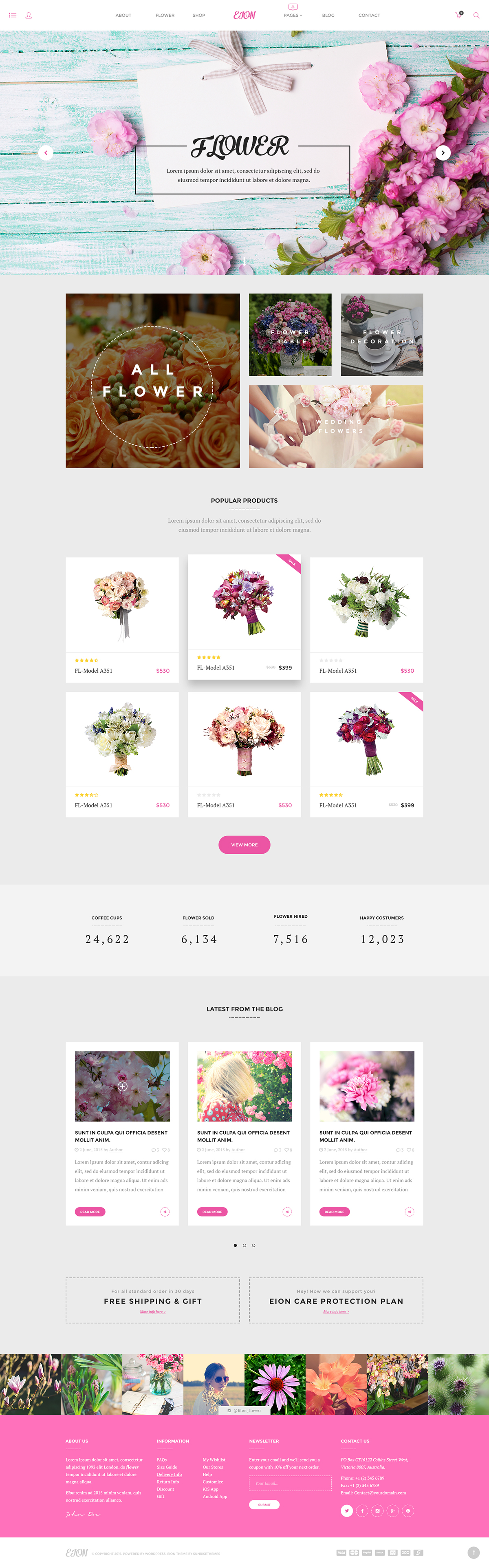 Free Eion Psd Template For Flower Shops On Behance