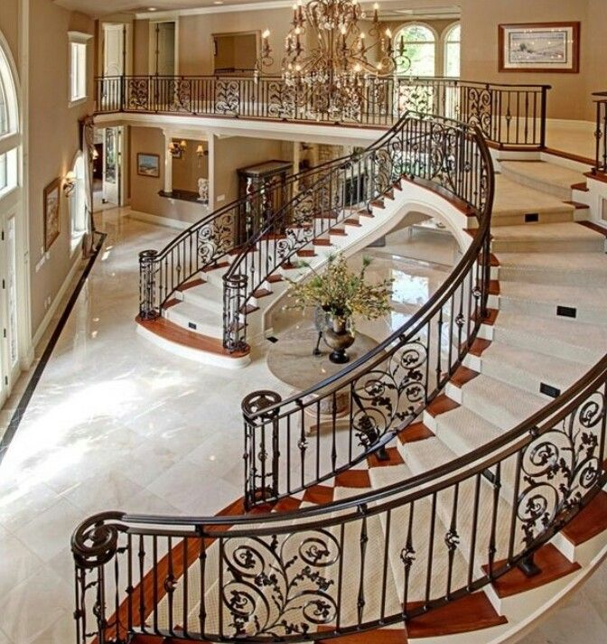 Beautiful Front Hall And Staircase: Beautiful Entry And Staircase