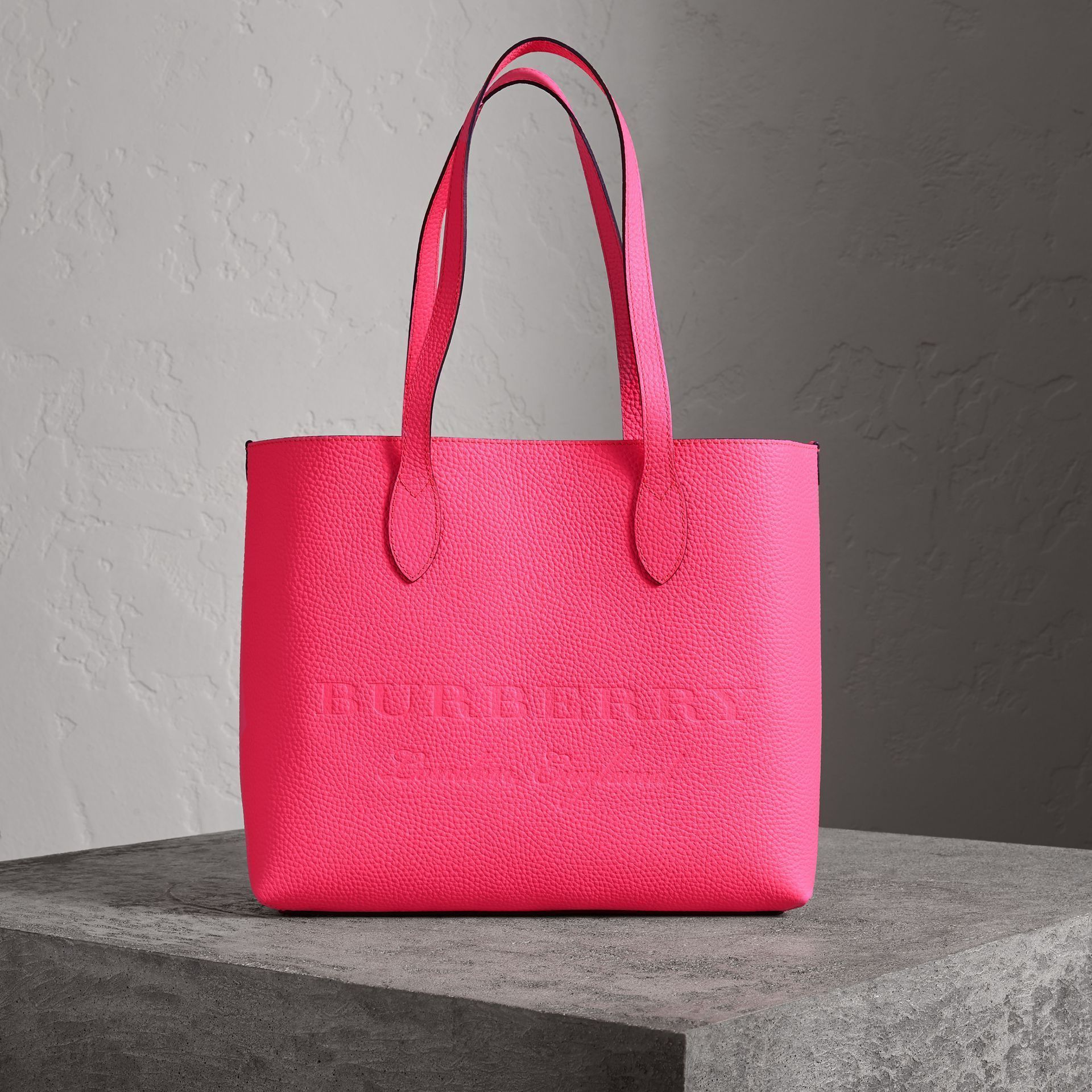 6adc2ef13fca Burberry Large Embossed Leather Tote