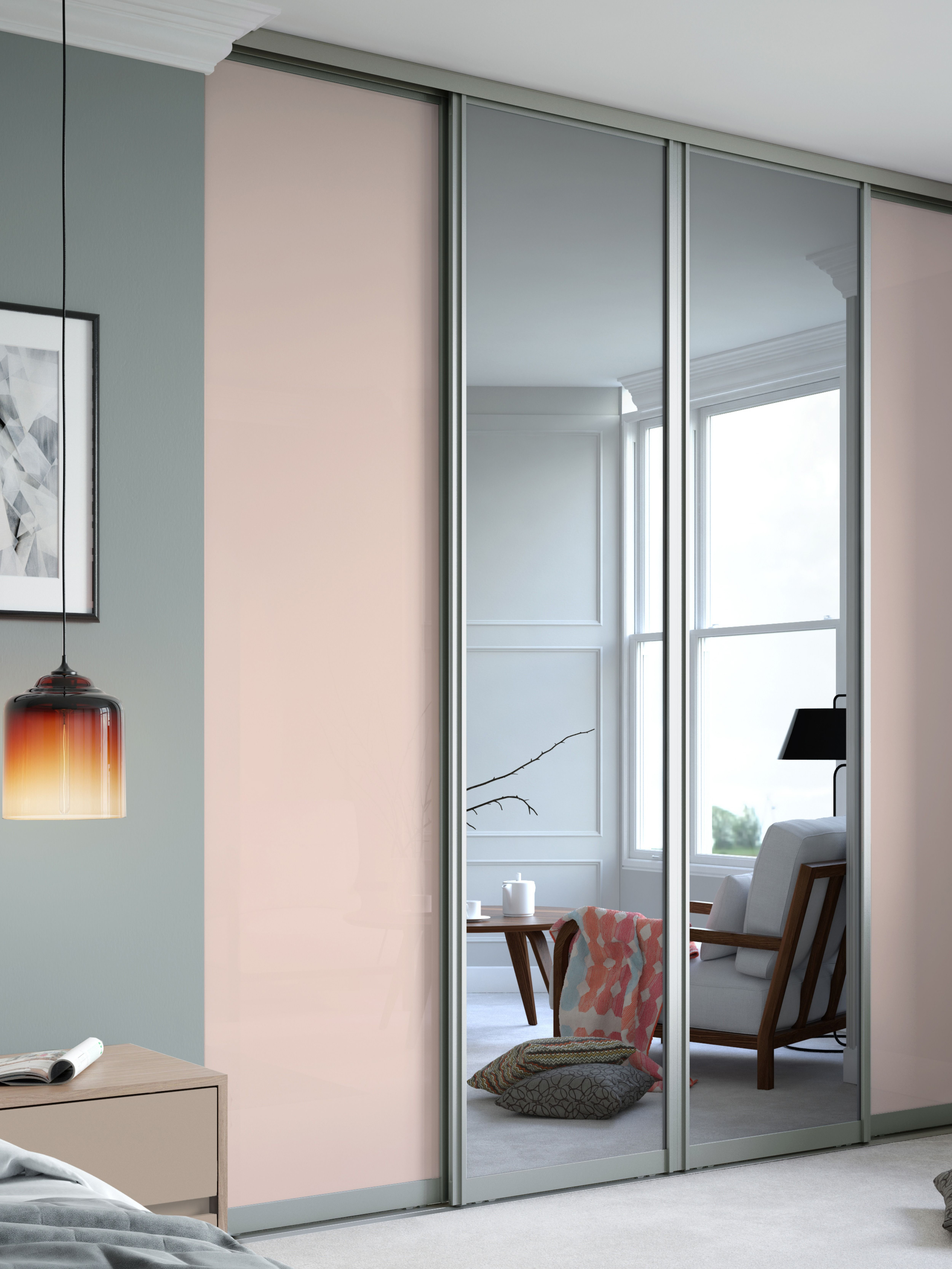 Shown Here Are Our Signature Sliding Wardrobe Doors In Mirror And