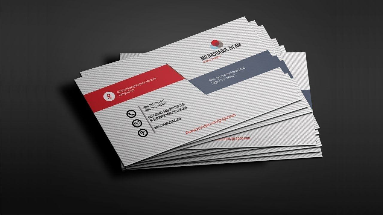 Professional Business Card Design Tutorial Photoshop Cc 2018 Photoshop Tutorial Design Professional Business Card Design Professional Business Cards
