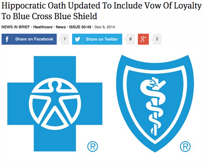 Hippocratic Oath Updated To Include Vow Of Loyalty To Blue
