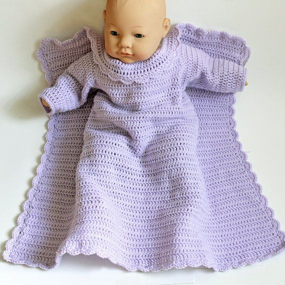 Crochet Baby Snuggie . Car Seat Blanket With Arms . Lavender Infant ...