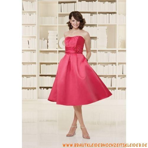 Pinkes liebes Abendkleid A-Linie