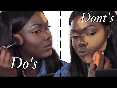 25 do's and dont's highlight  contour for dark skin woc