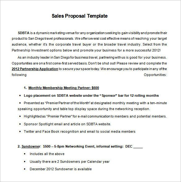 Sale Proposal Letter Inspirational Proposal Templates 170