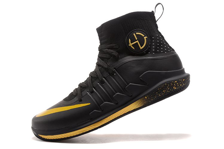 separation shoes ffbd0 25a2a Nike Hyperdunk 2017 2018 Draymond Green Sneakers Black Gold
