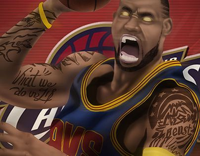 Check out new work on my @Behance portfolio  - fresh nba coloring pages of lebron james