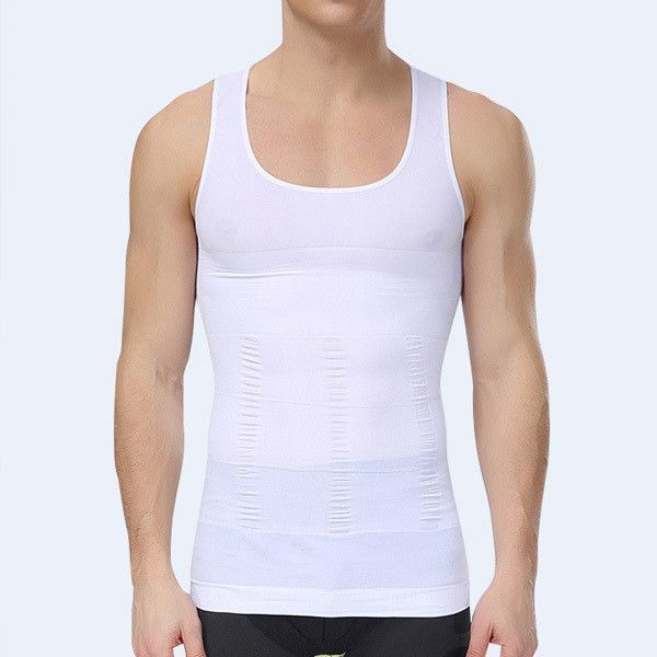ed98323bc1 Men Body Shaper Slim Abdomen Tummy Waist Girdle Underwear Vest Shirt Tops  Shapewear M L XL
