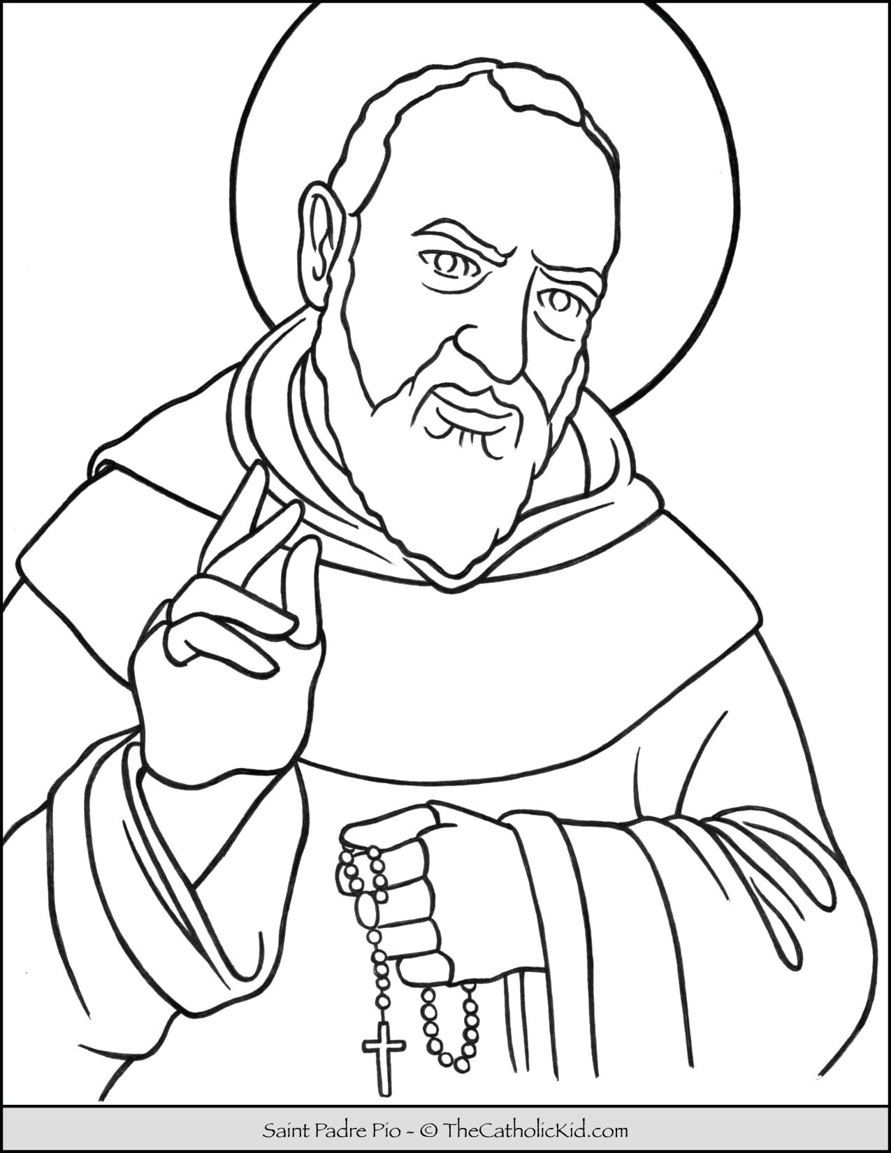 49++ St albert the great coloring page free download