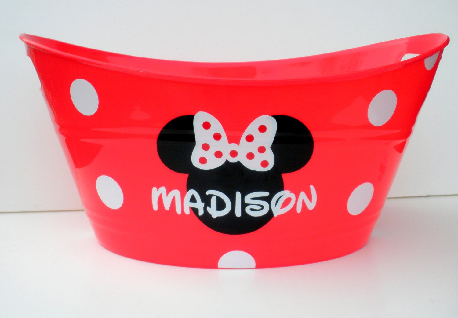 Personalized Minnie Mouse Storage Tub / Easter Basket ... - photo#26