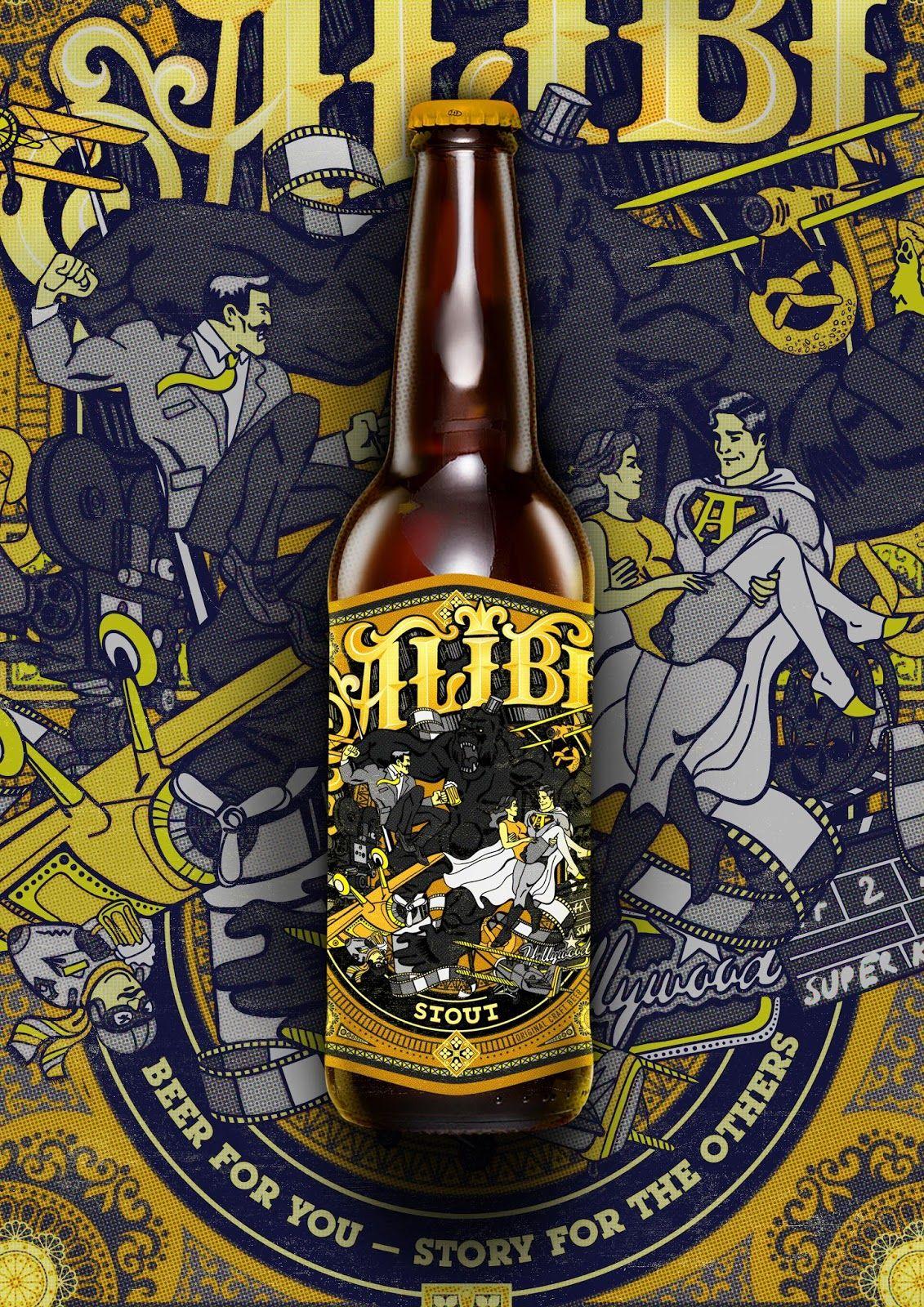 Alibi Beer Packaging Beer Label Design Packaging Design