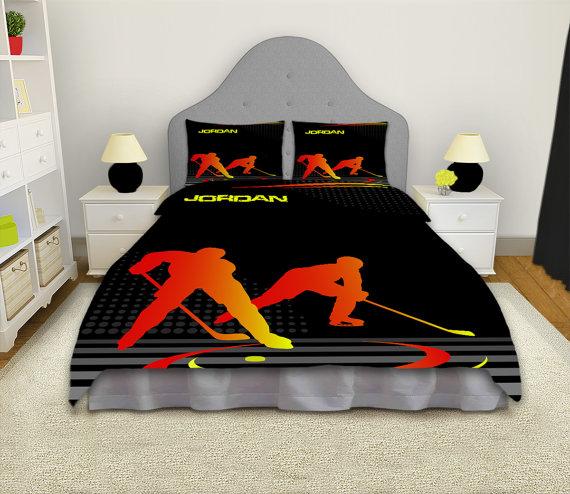 Hockey Comforter Ice Hockey Bedding Sets Boys Bedding King