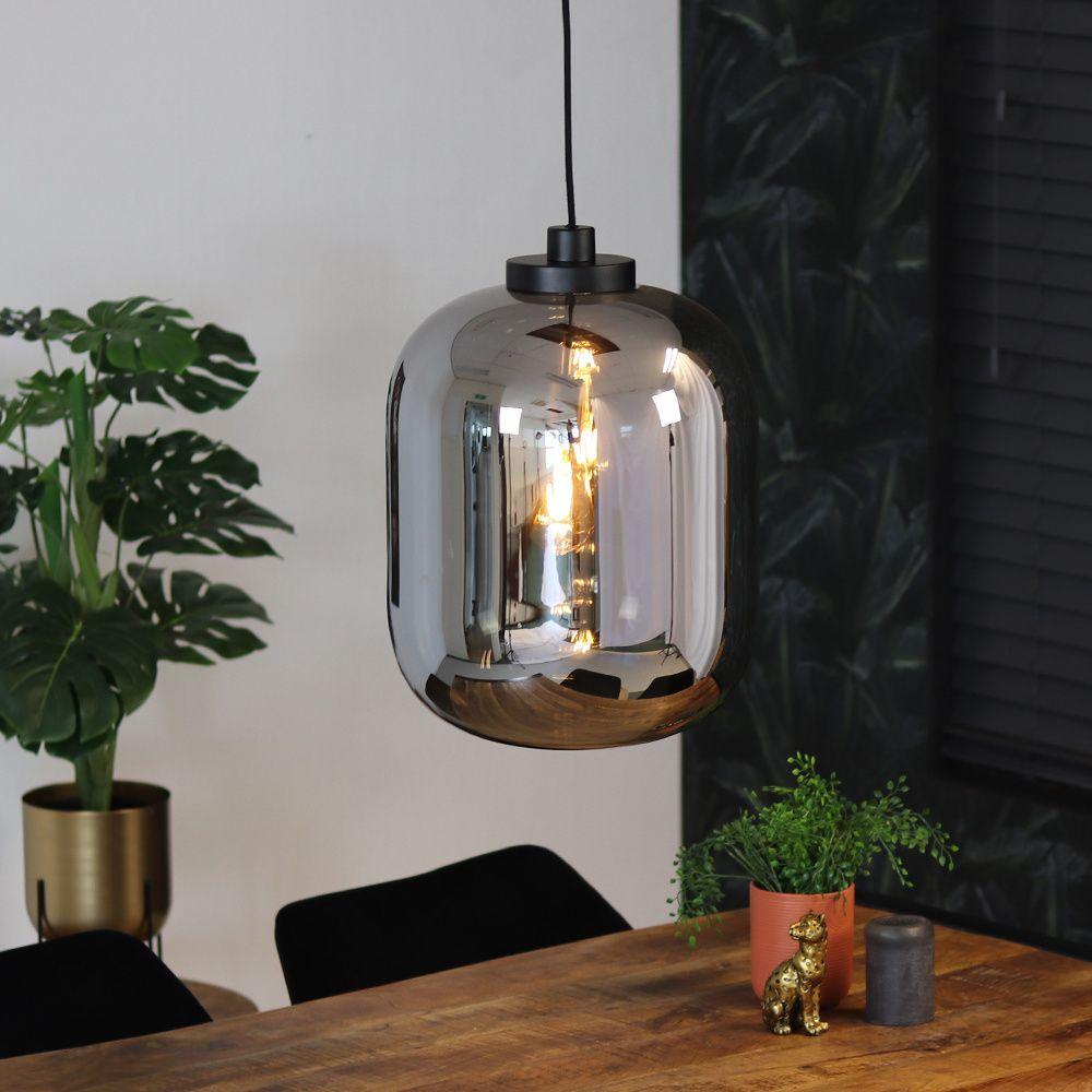 Hangelampe Smoke 1 Flammig Glas 45cm In 2020 Hange Lampe Glas Pendelleuchten Pendelleuchte Esstisch