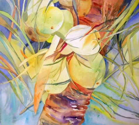 Coconut Crazy Original Art Painting By Kay Smith Dailypainters